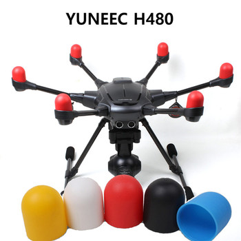 6pcs/lot YUNEEC Typhoon H480 Motor Cover Cap Protector Guard Soft Cover Dust-proof Motor Protection Cover RC FPV